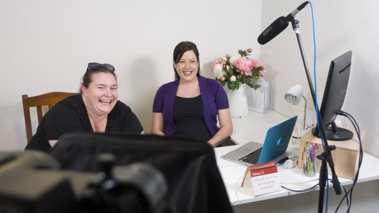 Corporate Video Services_The Video Box_Sarah with Julia